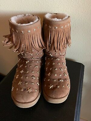 707d13ccead UGG Australia Jimmy Choo Starlit Classic Short Boots - Size 10 Women Well  Loved