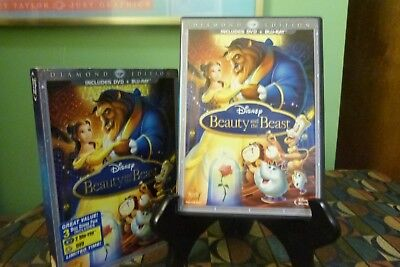 Beauty and the Beast (Blu-ray/DVD, 2010, 3-Disc Set, Diamond Edition) NM