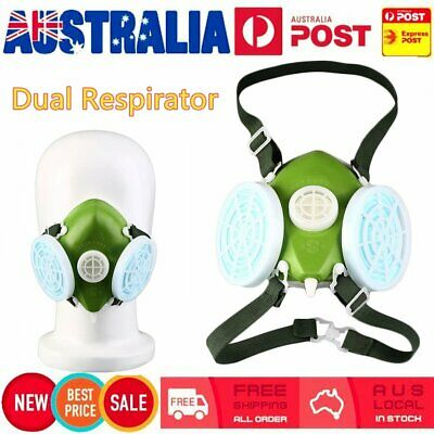 3M 7502 6 Piece Suit Half Face Respirator Painting Spraying Face Dust Gas MaU2