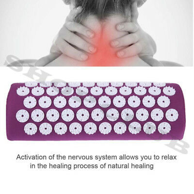 Massager Pillow Relieve Stress Pain Acupuncture Spike Protect Neck Health Care