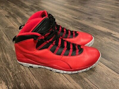 online retailer 619e8 e71e0 Nike Jordan 10 X Retro 30th Bulls Over Broadway Red Size 18
