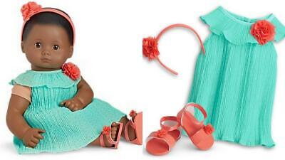 American Girl Bitty Baby TWIRLY TIERED Dress party Pink Outfit NIB   NO Doll!
