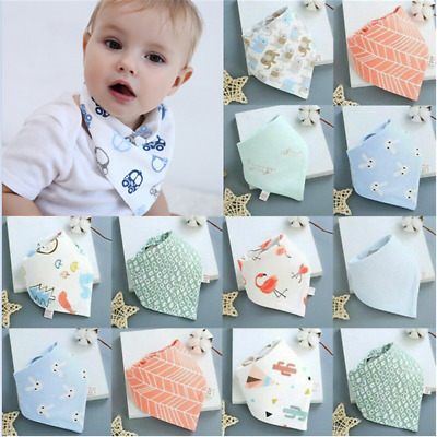 Infant Baby Boy Girl Cotton Bandana Bibs Feed Saliva Towel Dribble Triangle HS