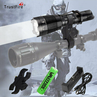 Tactical 1000Lm T4 LED Predator Flashlight Hunting Rifle Gun Torch 5 Modes Light