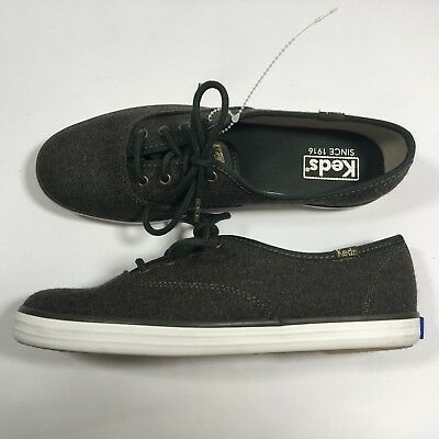 83f87d2401394 Keds Shoes Women Champion Heathered Wool Green Lace Up Fashion Sneaker Size  6