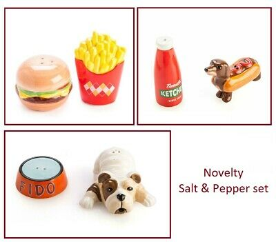 Novelty Collectible Salt & Pepper Set Ceramic Kitchen Home Decor Creative