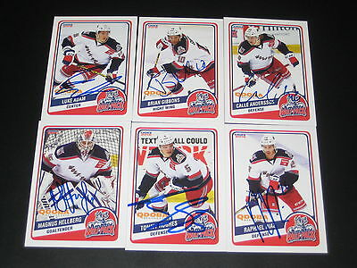 1ea08639e37 TOMMY HUGHES autographed  16 HARTFORD WOLF PACK team card NY NEW YORK  RANGERS