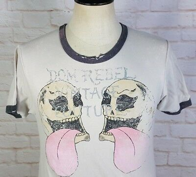 DOMREBEL DOM REBEL Graphic T-Shirt Vintage Couture Skulls Men's Small