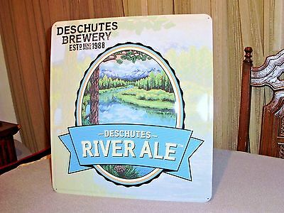 1d0dab2ce Deschutes Brewery Deschutes River Ale Metal Beer Sign Bend Oregon Must See  New