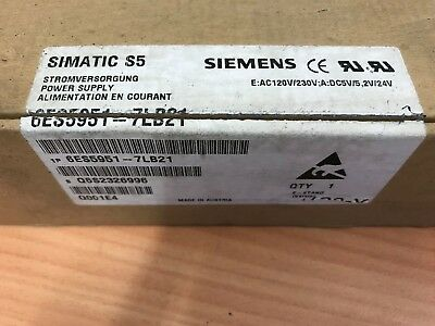 Siemens Simatic 6ES5 951-7LB21 E : AC120V/230V:A:DC5V/5,2V/24V Power Supply