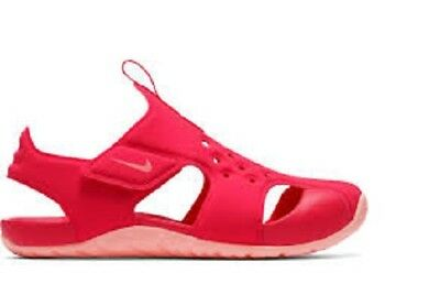 New Nike Kids Youth Sunray 2  Protect Ps/Gs Adjust Sandal Pink 943828 600