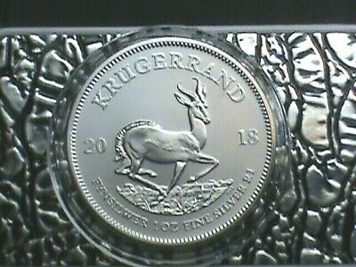 2018~Krugerrand South Africa~1 OZ. Pure Silver .999 ~Brilliant Proof Like