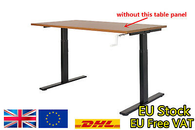 【UK】 Black Automatic Height Adjustable Stand Desk Frame Electric Computer Table