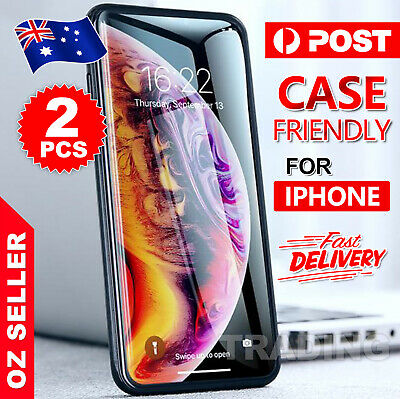 2X Tempered Glass Screen Protector For Apple iPhone X XR XS MAX 8 7 6 Plus 6S 5