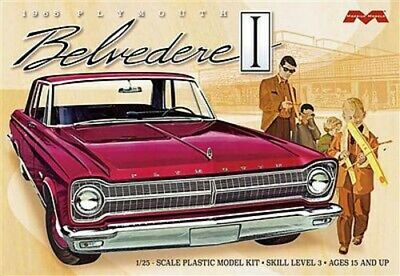 Moebius 1965 Plymouth Belvedere - Plastic Model Car Kit - 1/25 Scale - #1218
