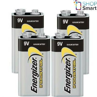 4 Energizer Alkaline 6Lr61 Batteries 9V Industrial E Block 6Am6 Mn1604 En22 New
