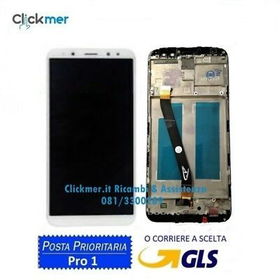 TOUCH SCREEN VETRO + LCD DISPLAY FRAME Per HUAWEI MATE10 LITE RNE L21 L01 BIANCO