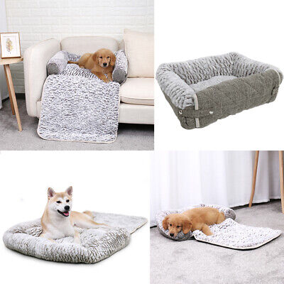Pet Dog Cat Sofa Bed Foldable Chair Protector Fleece Washable Cushion Pup Kitten