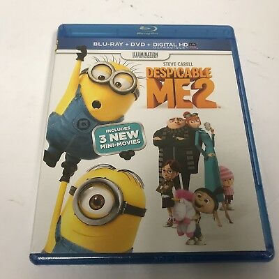 Despicable Me 2 (Blu-ray/DVD, 2016, 2-Disc Set) Like New Free Shipping