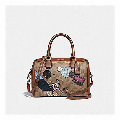 cdc848990034 Coach Keith Haring Mini Bennett Satchel In Signature Canvas With Patches  F48729