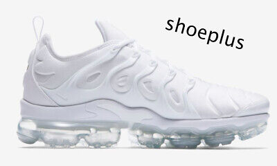 NIKE AIR VAPORMAX Plus Tuned Triple White Qs Men s Trainers All ... 7500c4d3f