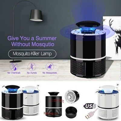 USB Mosquito Insect Killer Electric LED Light Fly Bug Zapper Trap Catcher Lamp A