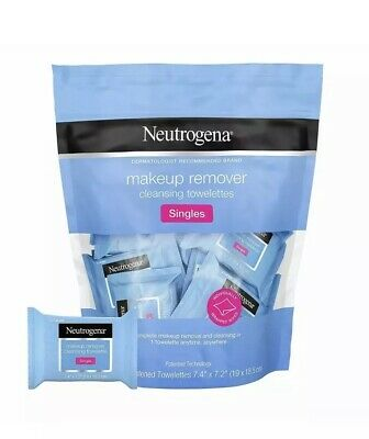 Neutrogena Cleansing Towelettes Facial Wipes Travel Individually Wrapped X20