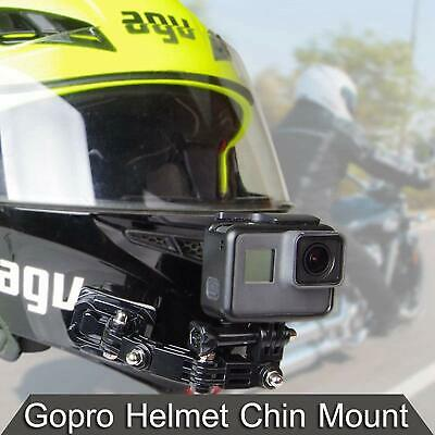 Motorcycle Helmet Chin Bracket Turntable Button Mount Cam for GoPro hero6/5/4