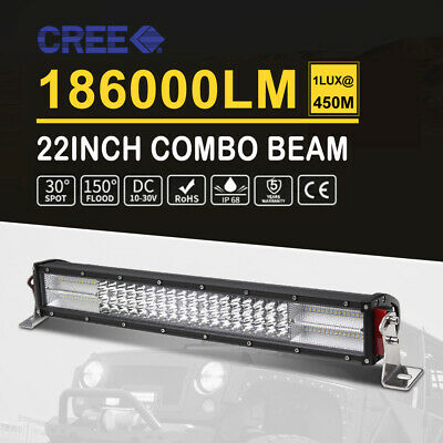 22inch LED Light Bar 4Rows Combo Offroad 4WD Driving Work For JEEP Lamp 20/23''