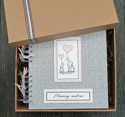 """Mummy & me gift, Mothers Day keepsake memory book, 8""""x8"""" scrapbook with gift box"""
