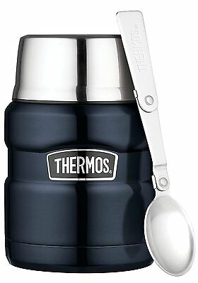 Thermos Stainless King Food Flask 470 ml Midnight Portion Control Lunch Box