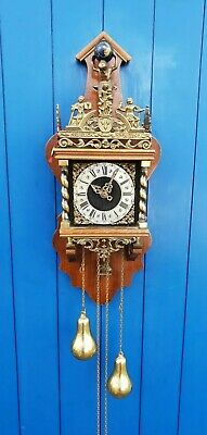Dutch Zaanse  WUBA WARMINK clock with nut-wood case.