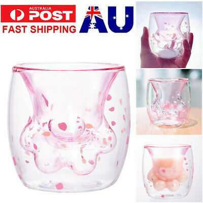 2019 Cherry Blossom Pink Cat Claw Double Glass For Starbucks Limited Edition Cup
