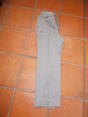 Tailored Trousers Pleated front W92 Inleg74 Machine Washable - Made Fiji