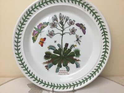 Portmeirion Botanic Garden Dinner Plate Venus Fly Trap Looks Unused 26.50cm