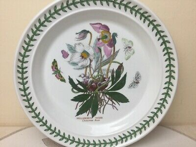 Portmeirion Botanic Garden Dinner Plate Christmas Rose Looks Unused 26.50cm