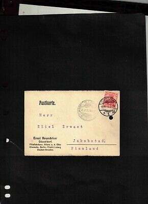 1911 Post Card sent from Dusseldorf to Finland