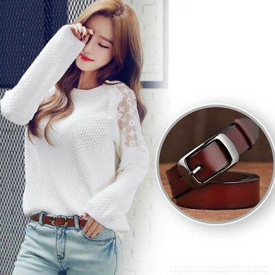 Fashion Genuine Cow Leather Pin Buckle All-match  Belt Women's Waistband Girdle