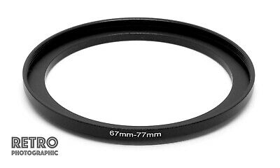 67mm to 77mm 67-77mm Step-Up Stepping Ring Filter Adapter - UK Stock
