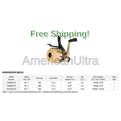 Daiwa Underspin-XD Series Trigger-Control Closed-Face Reel Size 80