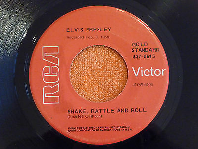 ELVIS PRESLEY Shake Rattle & Roll 45 rpm RCA GOLD STANDARD 447-0615 Red Labels