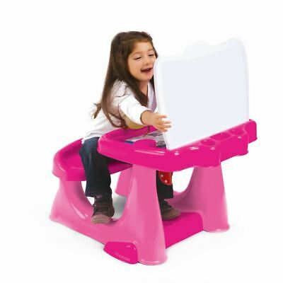 Portable Kids Study Table Learning Drawing Reading Creative Art Desk Table Pink