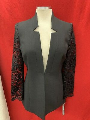 Tahari By Arthur Levine Blazer/black/size 18/retail$139/lined/lace Sleeve