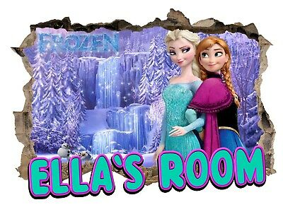 Personalised Any Name Frozen Wall Decal 3D Art Stickers Vinyl Room Bedroom 12