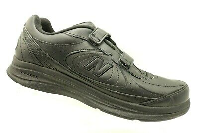 newest bf936 af8ac New Balance 577 Black Leather Walking Slip On Sneakers Shoes Men s 12 D