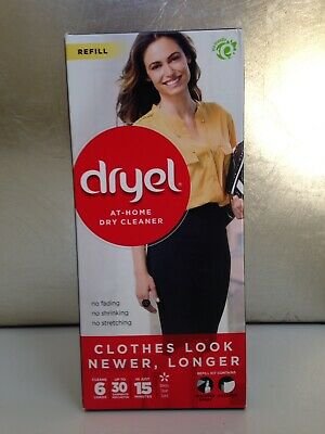 Dryel At-Home Dry Cleaner Refill 6 Loads Up To 30 Garments Booster Spray +Cloths