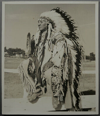 Original 8x10 Photo Co-Chief Luke Cowapoo Nez Perce & Cayuse Pendleton Round-Up