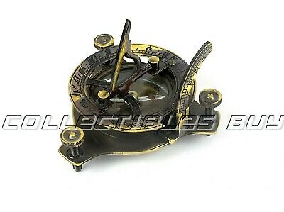 Maritime West London Brass Sundial Compass Nautical Pocket Gift Antique Device