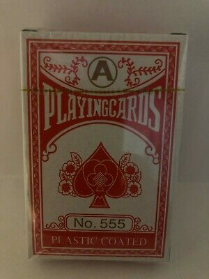 Deck of Professional Plastic Coated Playing Cards Poker Size SEALED/NEW