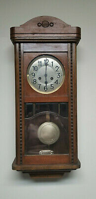 Antique German Junghans???  Gottlieb??? chime wall clock